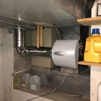 Westerville, OH - Removed old humidifier and installed new AprilAire 600m with humidistat control.