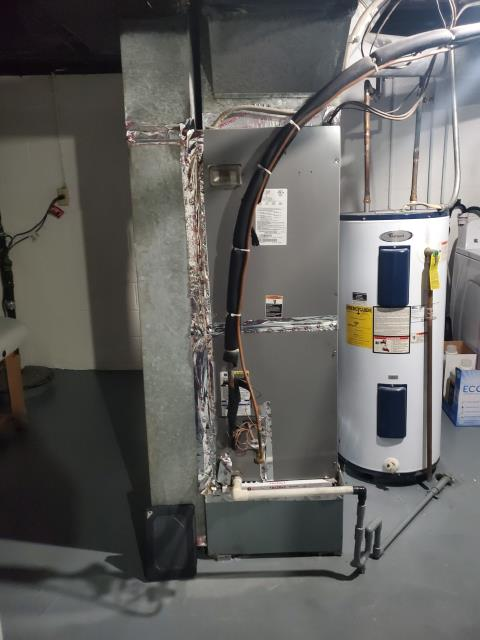 Westerville, OH - Completing a furnace tune-up and safety inspection on an International Comfort Products unit. Furnace running within manufacture specs, all good at this time.