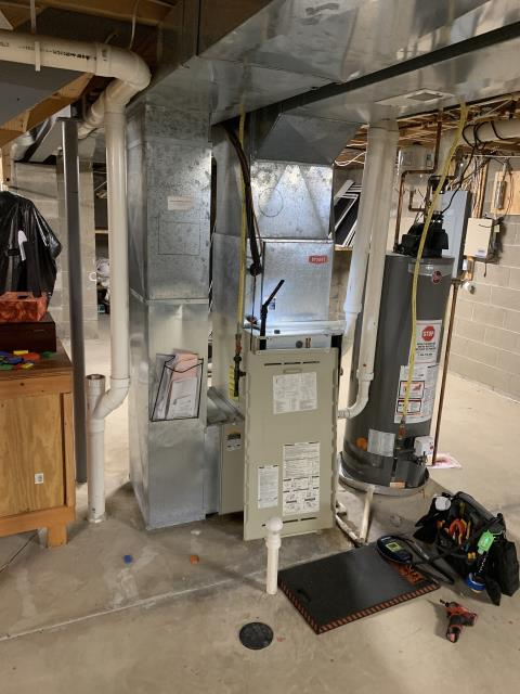 Powell, OH - Diagnostic service call on 2002 Bryant gas furnace,  Found pressure switch code. Checked trap trap was clogged but pressure switch tubing was on the wrong port. Cleared trap with bleach and air. All in all system runs very well. Ran system 20 mins to ensure no more issues. All okay.