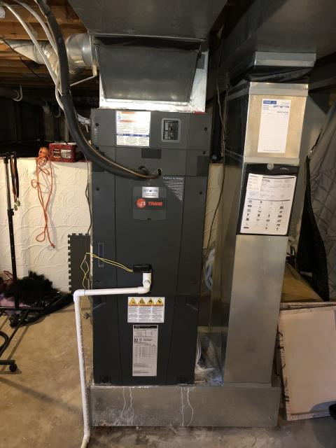 Gahanna, OH - Replaced heat kit in 2017 Trane air handler.