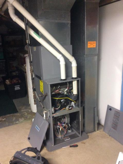 Groveport, OH - Installed iWave air purification system on a Comfortmaker furnace for a Groveport customer.