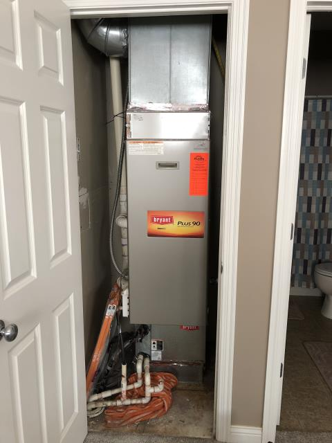 Dublin, OH - Diagnostic service call on 2005 Bryant Furnace. Found fuse blown. Replaced with fuse popper, cycled heating, cooling, working properly at this time.