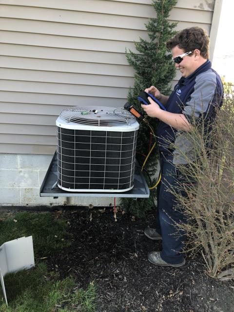 Pickerington, OH - Performed tuneup and safety check on AC. All is working well at this time.