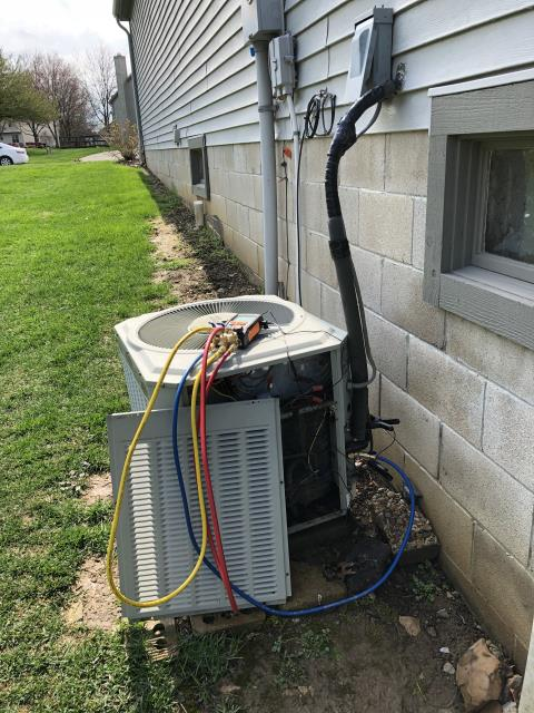 Pickerington, OH - Wearing mask and gloves and keep activity in the home to a minimum, I Performed a Air Conditioner tune-up on a 1994 Trane unit . System is now running a peak performance