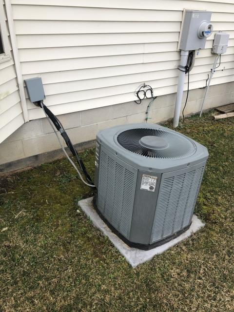 Columbus, OH - 	Wearing mask and gloves and keep activity in the home to a minimum, I Performed a Air Conditioner tune-up on a 2005 Trane unit . System is now running a peak performance