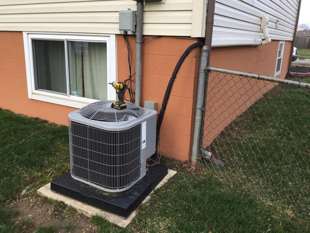 Groveport, OH - I returned to Straightened up ac pad and 2019 carrier ac unit.