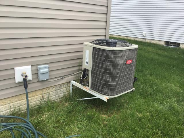 Commercial Point, OH - Wearing mask and gloves and keep activity in the home to a minimum, I Performed a Air Conditioner tune-up on a 2013 Bryant unit . System is now running a peak performance