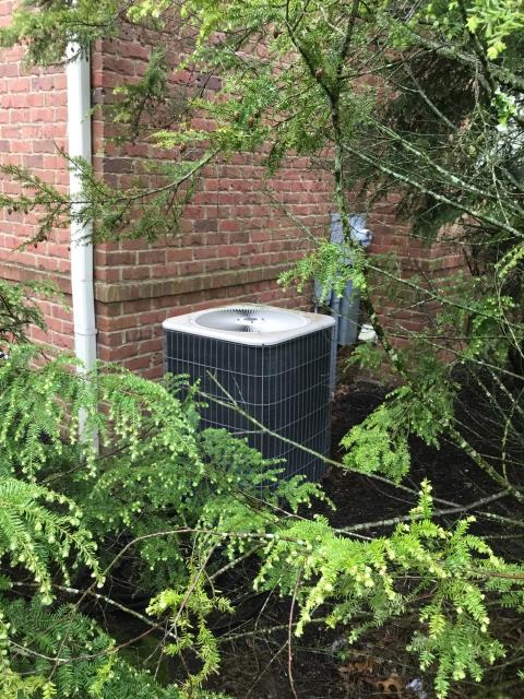 Westerville, OH - Performing our Five Star Tune-Up & Safety Check on 2003 Lennox AC unit. All is operating properly at this time.