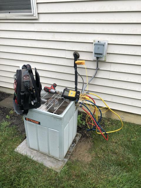 Blacklick, OH - Provided a Duct Cleaning for the customer prior to the install