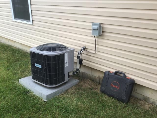 Groveport, OH - Found house at 69, 69 in the house. Customer stated  high velocity, noise on shutdown. Moved cooling blower speed from black lead ( high) to med high speed (yellow). The 2016 Comfortmaker Outdoor unit clean. Recommend annual maintenance