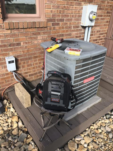 Groveport, OH - I replaced the Compressor-Motor Surge Capacitor  in a 2011 Goodman AC