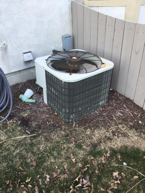 Westerville, OH - Ran 40 ft of communication wire from the 2011 Carrier condenser to the heat pump. Tied in float switch for evap coil to R and G and set thermostat to shutdown for float switch. Tested cooling, everything running good.