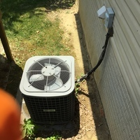 Pataskala, OH - Replaced condenser fan motor, blade, & capacitor on 2007 ICP Air Conditioner
