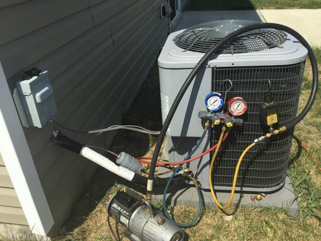 Groveport, OH - I Replaced the in Warranty OEM Evaporator Coil and added 3 pounds of Refrigerant R-410A Puron 2015 Goodman.