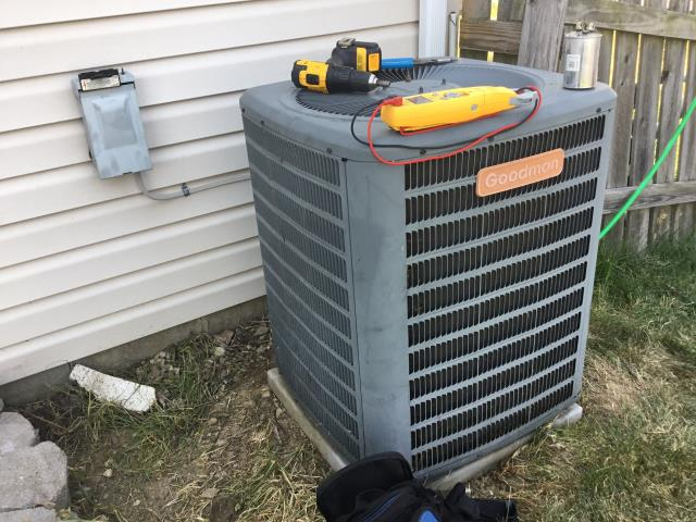 Blacklick, OH - I Replaced capacitor, washed coil, turned the 2009 Goodman unit on. Outdoor unit operational.