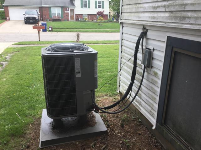 "Groveport, OH - Upon arrival found coil is not longer frozen. Found only 6"" hole in return box to furnace and filter housing busted. 16"" from top of furnace to first take off. evap coil is also completely plugged. Talked with install manager and we need to raise the furnace, install new filter housing and clean evap coil."