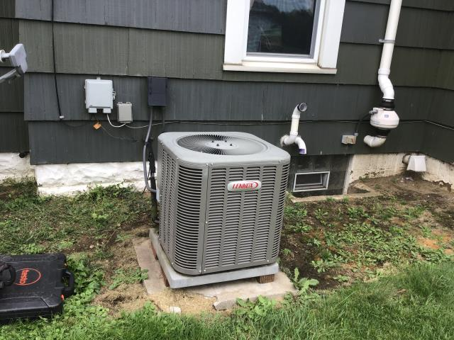 Obetz, OH - Found filter clean, evap coil not clogged. Found outdoor unit totally clogged, needs cleaned.
