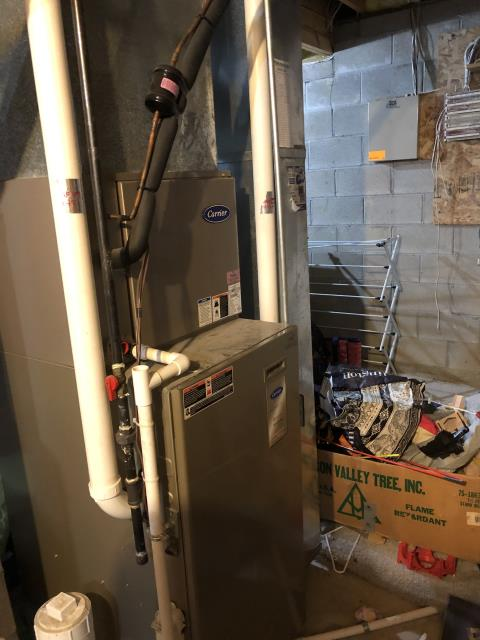 """Hilliard, OH - Upon arrival customer stated they found a 2008 Carrier """"system malfunction"""" alert on the thermostat when trying to run the heat and also found the breaker tripped at the main breaker panel. Found a older infinity system with the infinity controller."""