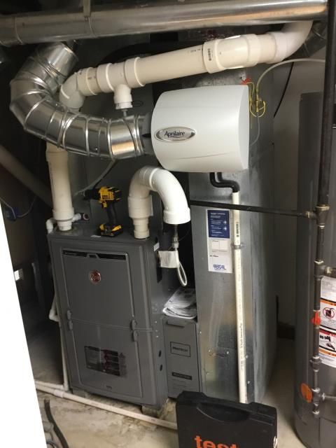 Galloway, OH - Performed our Five Star safety check and tune up on a  2014 Rheem Gas furnace. Gas pressure has been set in accordance to manufacturer's specifications. System running at Peak Performance at this time.