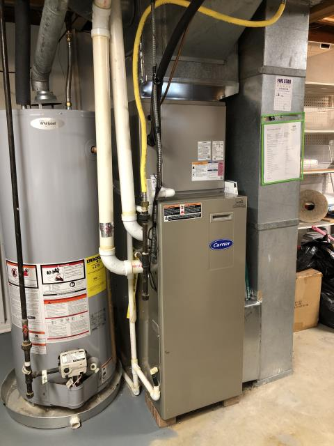 Pataskala, OH - Performed Our Safety Check and Tune-Up on a 2007 Gas Carrier Furnace. Replaced the motor surge capacitor, Gas pressure lowered to manufacturer's standard. System is working within Manufactures Specifications.