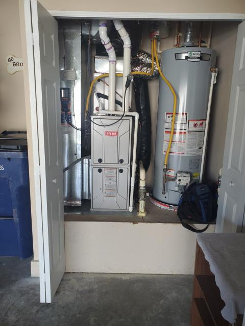Pataskala, OH - Performed Our Five Star Safety check/Tune-up on a 2017 Bryant Gas furnace. Gas pressure lowered, slightly high than it should be according to the manufacturer. Furnace is operating in heating as intended.