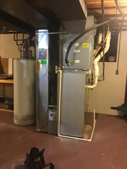 Grove City, OH - Foundt he 2006 Bryant  heat pump board sending voltage to W, bad defrost board. Removed heat command capability from outdoor unit, (w wire to furnace board). I confirmed thermostat settings, set compressor lockout to 40 from 35. Added Auto Mode for customer control.