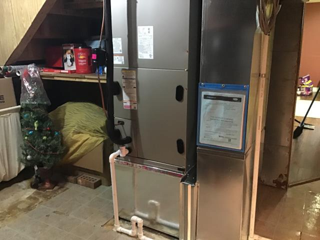 Lockbourne, OH - I am Performing our Five Star Tune-Up & Safety Check on a  2020 Carrier Electric Furnace. All readings were within manufacturer's specifications, unit operating properly at this time.