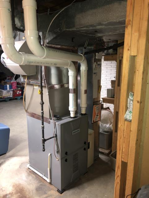 Pataskala, OH - I am Performing our Five Star Tune-Up & Safety Check on a  2012 Comfortmaker Gas Furnace. All readings were within manufacturer's specifications, unit operating properly at this time.