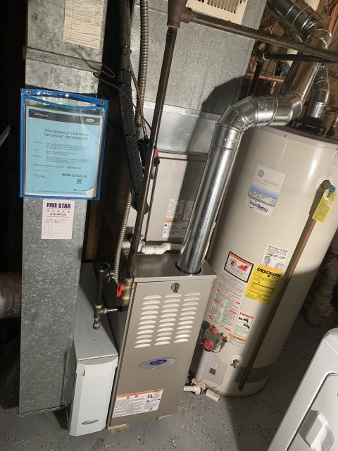 Grove City, OH - I installed a new  Carrier 80% Two-Stage 70,000 BTU Gas Furnace, a Carrier 17 SEER 2 STAGE 2 Ton Air Conditioner and a Aprilaire 2410 media Cabinet