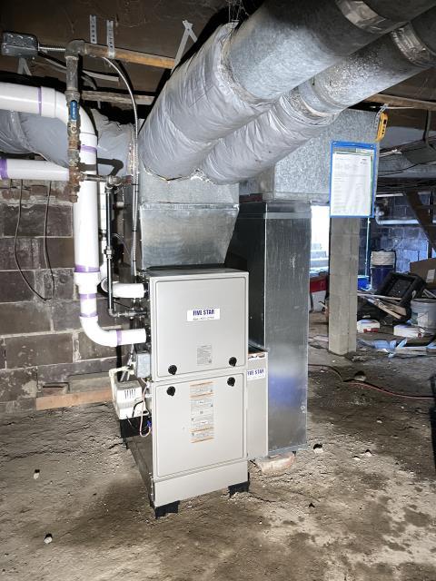 """Etna, OH - I installed Five Star 96% 80,000 BTU Gas Furnace 4T 17"""""""