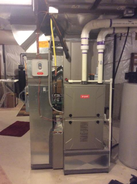 Blacklick, OH - I ran diagnostic call found a 3 zone system with 4 dampers. I tested all the  dampers via turning the thermostat up and I noticed that zone 2 damper is making the bad sound. I advised the customer that 3 of the 4 damper actuators are original and I would recommend replacing all 3 at this time to ensure that the other ones would go out very soon.