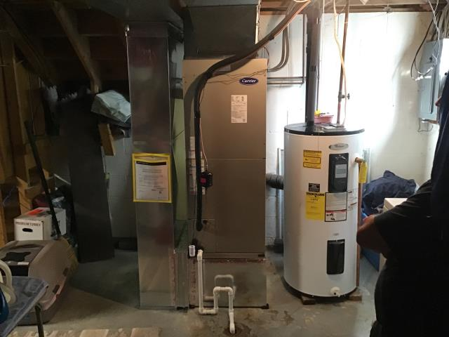 Pataskala, OH - I found the heat pump had low pressure. I informed the customer that we would have to come back out to find the leak in the system.