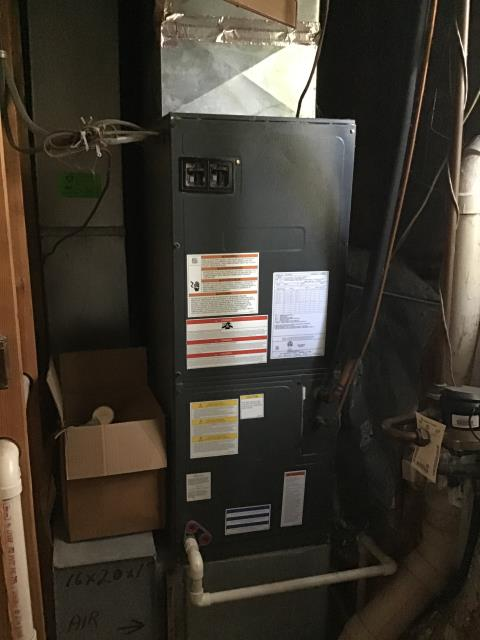 Galloway, OH - I replaced bad sequencer and fixed burnt/loose wire on 60 amp breaker.  Corrected wiring at thermostat and inside the air handler. 2012 Goodman electric furnace is operating normally at this time.