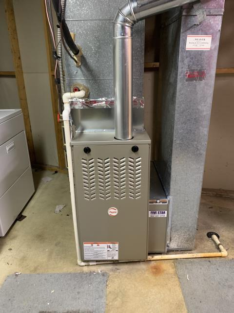 Reynoldsburg, OH - I installed a Five Star 80% 45,000 BTU Gas Furnace. Everything is operating within manufacturers specifications at this time.