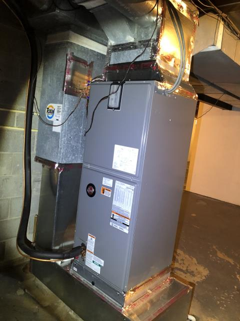 Blacklick, OH - I explained to customer that if the relay on the control board is sticking, it would cause the blower to not shut down. We will send a quote for a new part. 2017 Rheem unit working at this time.