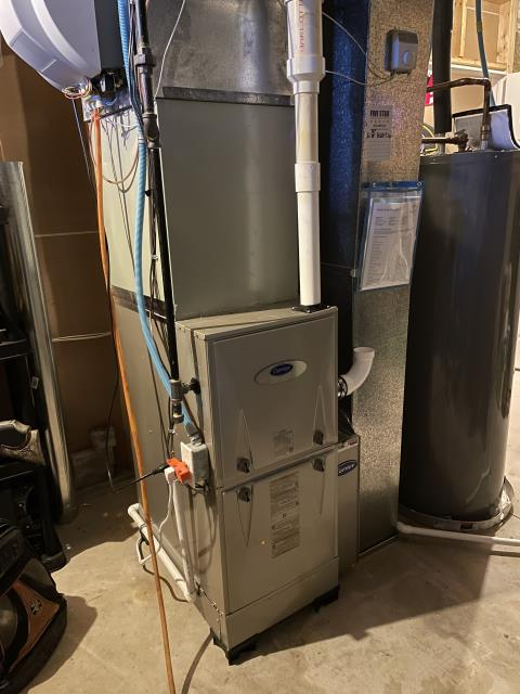 Galloway, OH - I performed an installation inspection on a Carrier gas furnace. Everything checked out as it should. System is operational upon departure.