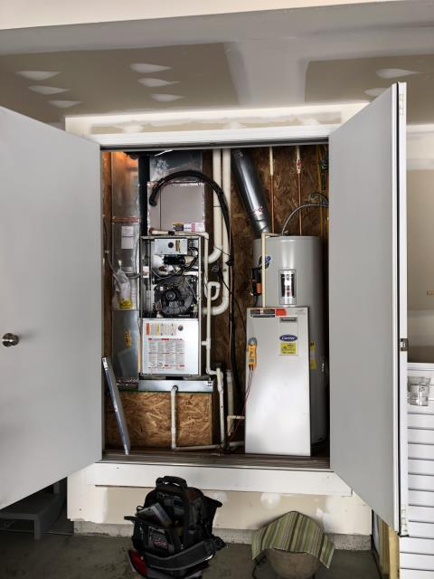 Blacklick, OH - I performed a diagnostic on a 2009 Carrier gas furnace that is having trouble heating the home properly. I ran a combustion test and found the heat exchanger is compromised. due to age cost of repairs and age of furnace, the entire furnace will be replaced.