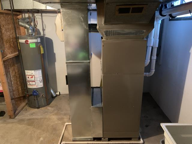 Worthington, OH - I found that the smell the customer is experiencing is from oil burning off the heat exchanger left over from the installation of the Carrier 96% Two-Stage Gas Furnace. I checked temperature rise and gas pressure and all readings are with specifications.