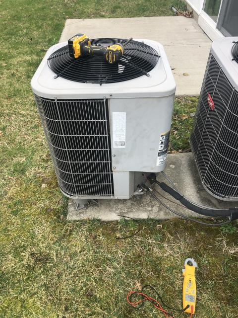 New Albany, OH - I completed a service call for a bad compressor. Replaced compressor