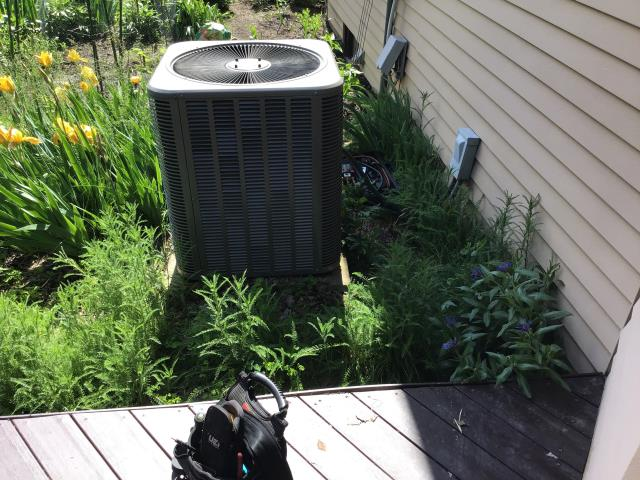 Gahanna, OH - I completed spring tune up on a Lennox heat pump.  I visually inspected the furnace.  I inspected the evaporator coil.  I checked the temperature difference across the coil.  Checked voltage and amps.   Inspected heat pump.  Checked refrigerant charge, voltages and amps.  I rinsed the condenser coils with water.  Cycled and monitored the system.  Operating normally at this tim