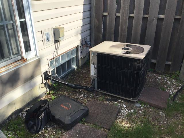 Hilliard, OH - I completed a diagnostic service call on an Armstrong air conditioner. Determined that the unit was low on refrigerant. Added refrigerant, went over options for repair of possible leak with the unit.