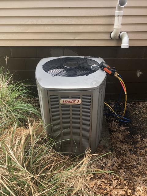 Reynoldsburg, OH - I completed a diagnostic service call on a Lennox air conditioner. I determined that the unit was working as intended.