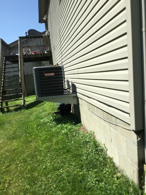 Galloway, OH - After removing the air conditioner, I installed a Goodman air conditioner.  Cycled and monitored the system.  Operating normally at this time.