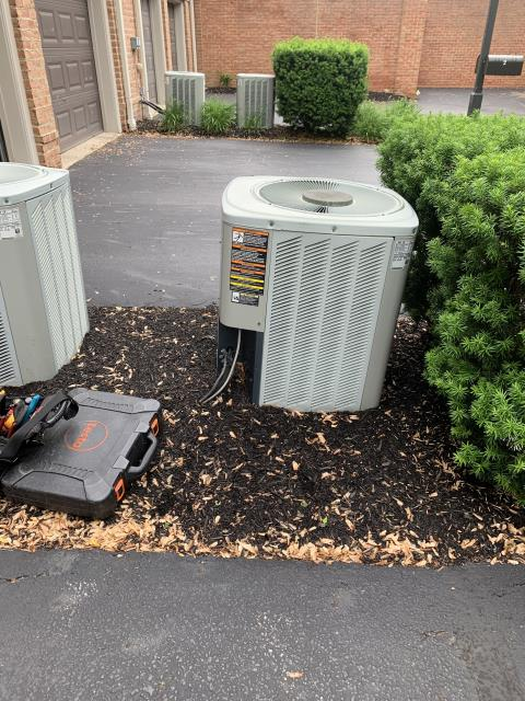 New Albany, OH - I completed a diagnostic service call on an air conditioner. I determined that the leak has grown and that the unit may need replaced. I went over options with the customer.