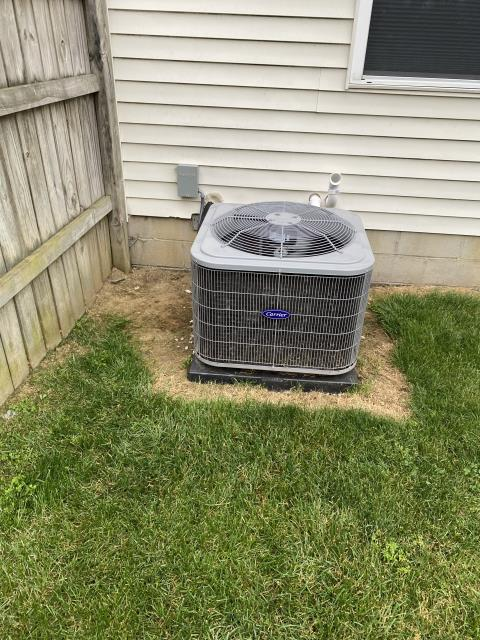 Canal Winchester, OH - I completed a return service on a Carrier air conditioner. I added a 5 minute time delay on the unit, adjusted the blower speed and the unit is now cooling properly.