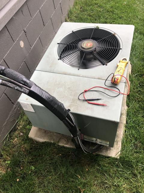 Gahanna, OH - I completed a diagnostic service call on a Rheem air conditioner. I determined that the unit was overcharged. I made the customer aware. Unit is cooling at the time.
