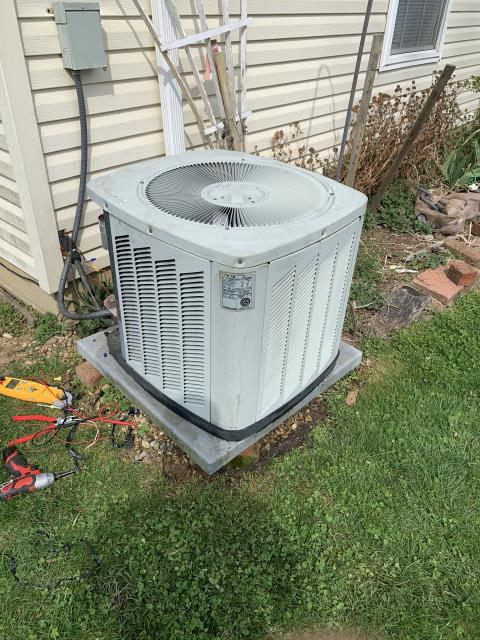 Johnstown, OH - I completed a diagnostic service call on a Trane air conditioner. I determined that the unit was in need of a new capacitor, I replaced and corrected the snake causing a shortage in high voltage. Cycled and everything is operating properly.