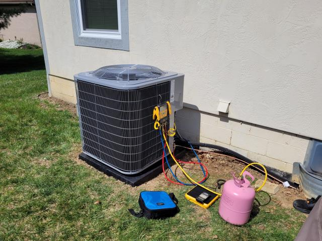 Westerville, OH - I arrived on site to perform a repair on a line wrap for a Carrier air conditioning unit. The line was placed in the crawl space. I added the new line wrap and added new caps to the unit. The unit was running at full functionality at the time of departure.