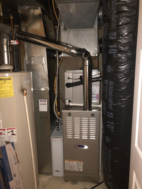 Powell, OH - I completed a return service to complete installation for a Carrier 80% Gas Furnace and a Carrier 13 SEER Air Conditioner.