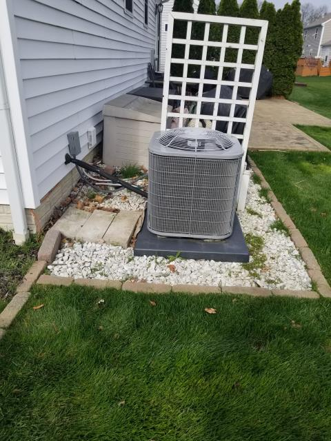 Westerville, OH - Upon arrival to complete a diagnostic on a Carrier Air Conditioner. I found that the noise the customer is hearing is from the sheet metal on the outdoor unit. I made some adjustments and the customer said it helped. System was operational at time of departure.